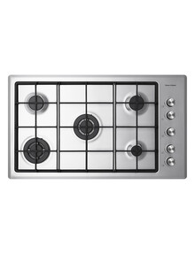 Fisher & Paykel Gas 5-Burner NG Cooktop, Stainless Steel, CG905CNGX2 product photo