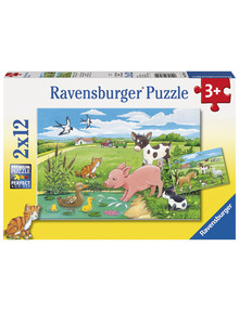 Ravensburger Puzzles Baby Farm Animals, 2X12Pc product photo