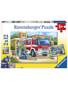 Ravensburger Puzzles Police And Firefighters, 2X12Pc product photo