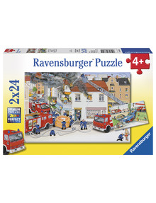 Ravensburger Puzzles Busy Fire Brigade Puzzle 2X24Pc product photo