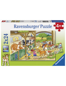 Ravensburger Puzzles Merry Country Life, 2X24Pc product photo