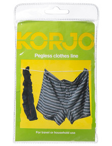 Korjo Pegless Clothesline product photo