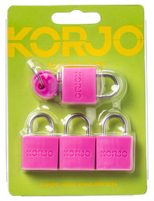 Korjo Colourful Locks, 4-pack, Assorted product photo