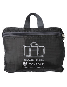 Voyager Foldaway Duffel, Black product photo