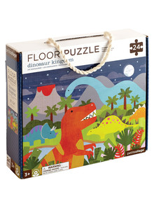 Petit Collage Dinosaur Kingdom Floor Puzzle, 24 Piece product photo