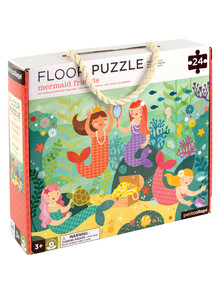 Petit Collage Mermaid Friends Floor Puzzle, 24 Piece product photo
