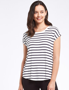 Bodycode Boxy Tee Short Sleeve, Stripe Midnight product photo