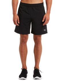 Gym Equipment Microfibre Stretch Short with Side Panel, Black product photo