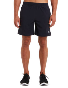 Gym Equipment Microfibre Stretch Short with Side Panel, Navy product photo