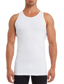 Mazzoni Cotton Rib Singlet, White product photo