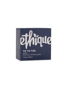 Ethique Tip-to-Toe Shampoo & Shaving Bar, 110g product photo