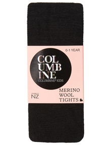 Columbine Merino Blend Tights in Black product photo