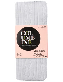 Columbine Merino Blend Cable Tights in Grey product photo