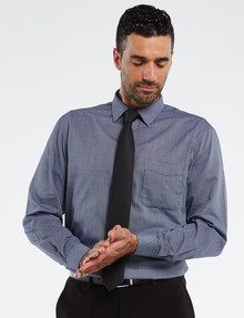 Chisel Formal Long Sleeve Navy Texture Shirt product photo