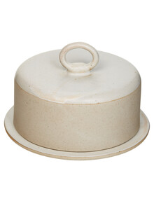 Salt&Pepper Artefact Butter Dish, White, 13x8.5cm product photo