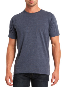 Chisel Crew Neck Tee, Navy Marle product photo