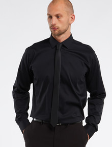 Calvin Klein Long Sleeve Black Egyptian Cotton Shirt product photo