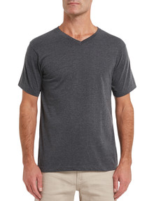 Chisel Ultimate V Tee, Charcoal Marle product photo