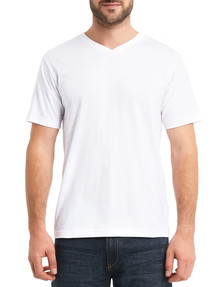 Chisel Ultimate Vee Tee, White product photo