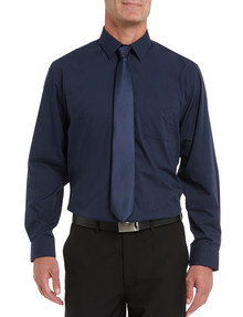 Chisel Formal Long Sleeve Shirt, Navy product photo