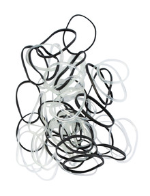 Mae Elastics Polybands Black & Clear, 100 product photo