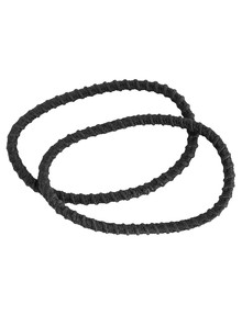 Mae Super Stretch Thick Black Elastics, 12-Pack product photo