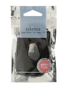 Mae Thin Super Stretch Black, 20 pack product photo