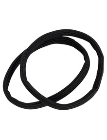 Mae Super Strong Black Elastics, 6-Pack product photo