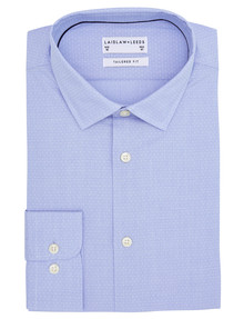 Laidlaw + Leeds Long-Sleeve Dobby Textured Shirt, Light Blue product photo