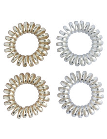 Mae Twirl Ties, Gold & Silver, 4-Pack product photo