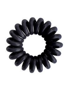 Mae Twirl Ties, Set-of-4, Clear & Black product photo