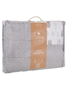 Little Textile Nursery 4-Piece Set, Woodlands & Star product photo