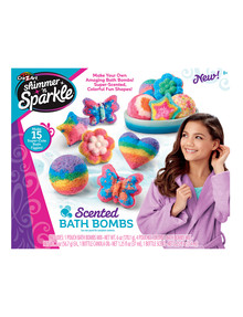 3D Shimmer & Sparkle Scented Bath Bombs product photo