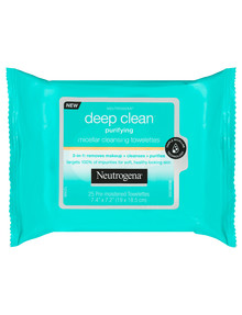 Neutrogena Deep Clean Purified Skin Micellar Towelettes, 25- Pack product photo