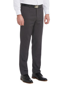 Chisel Formal Flat Front Birdseye Pant, Tailored Fit, Black product photo