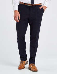 Laidlaw + Leeds Tailored Check Print Pant, Blue product photo