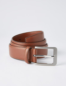 Chisel Textured Leather Belt, Tan product photo