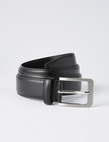 Chisel Textured Leather Belt, Black product photo