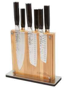 Baccarat Damashiro Shi Set of 7 Knife Block product photo