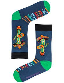 Mitch Dowd Singing Cactus Crew Socks, Denim product photo