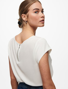 ONLY Vic Short-Sleeve Top, White product photo