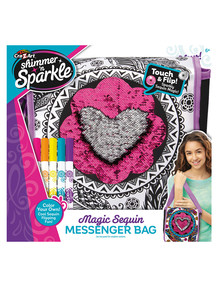 3D Shimmer & Sparkle Colour Your Own Magic Sequins Messenger Bag product photo