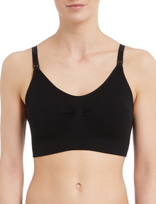 Lyric Maternity Seamfree Bra, Black product photo