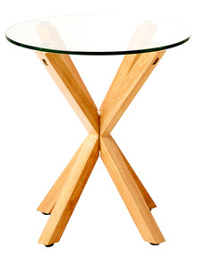 LUCA Zuri Side Table, Natural product photo