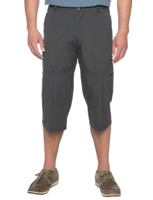 Savane Flat Front Three Quarter Canvas Pant, Charcoal product photo