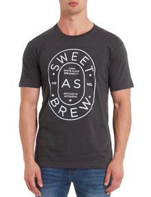 Mr Vintage Sweet As Brew Tee, Dark Grey product photo