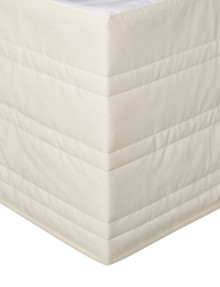Linen House 250 Thread Count Cotton Valance, Cream product photo