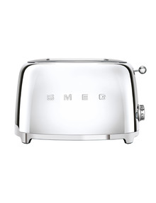 Smeg 2 Slice Toaster, Stainless Steel, TSF01 product photo