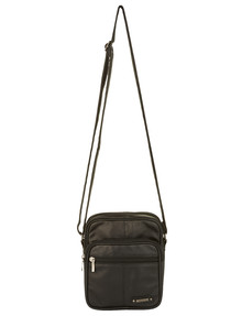 Milano Multi Compartment Shoulder Bag, Black product photo