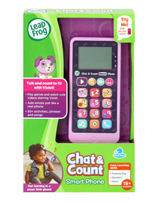 Leap Frog Chat And Count Cell Phone Violet product photo